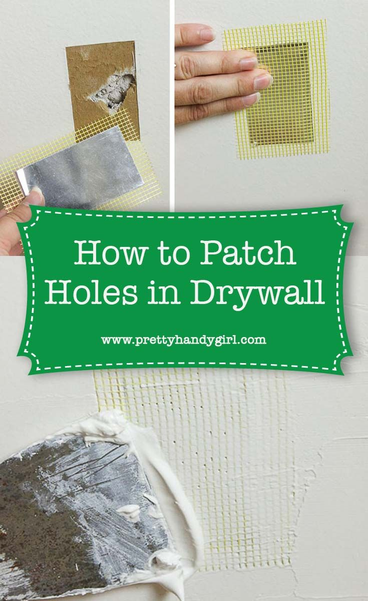 The Super Simple Way To Fix Holes In Drywall How To Patch Drywall Fix Hole In Wall Drywall