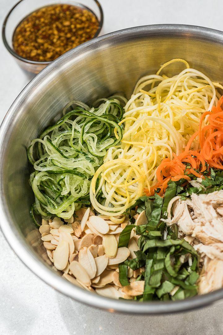 Spiralizer Thai Chicken Salad