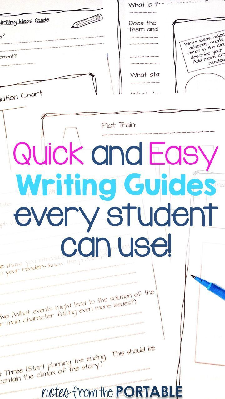 Love these writing guides!  They are perfect for my writer's workshop and I can easily differentiate learner for all students!  The writing guides and writing graphic organizers helped planned out ideas, plot, setting, and characters!