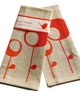 Buyer Guide to Handmade   Tea Towels   @Janes Apple #handmade @Etsy #red #tan