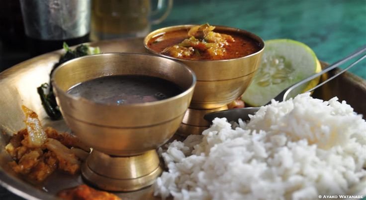 How to make Nepali dal bhat, a lentil saucy-soupy-stew often served with rice: it's the food most associated with the nation, a must-eat for visitors >> https://www.finedininglovers.com/stories/dal-bhat-recipe/