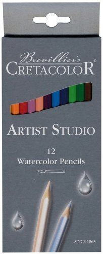 Cretacolor Artist Studio Line  Watercolor Pencils creates vivid color washes with bright colors and rich pigmentation. It is Non-toxic. Set of 12 pre-sharpened pencils are packaged in cardboard boxes.