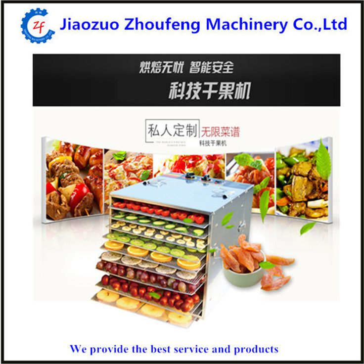 Food drying machine household stainless steel fruit vegetable pet food processors dehydration machine 10 layers ZF