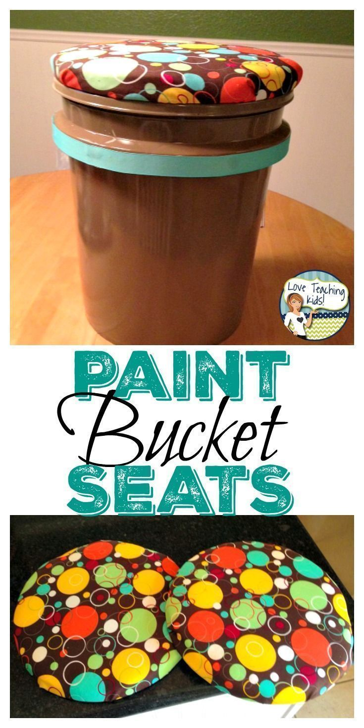 These paint bucket seats were super easy to make for my classroom kids. These DIY stools were a great idea for seating for my students.