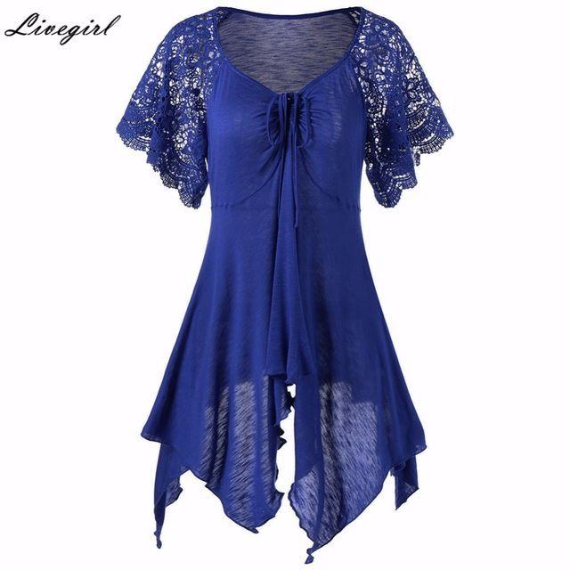 Summer Fashion Women Casual Loose Short Dress Irregular Lace Vestidos De Festa Dress Plus Size Mini Dress