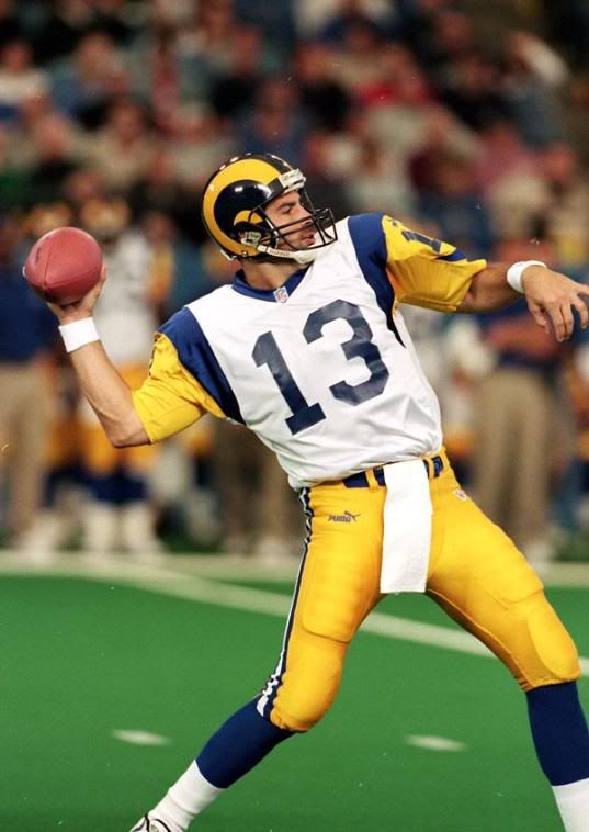Kurt Warner...From obscurity to overnight sensation as a result of a dirty play by Rodney Harrison on former starter Trent Green