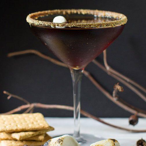 S'mores Chocolate Martini Recipe - RecipeChart.com