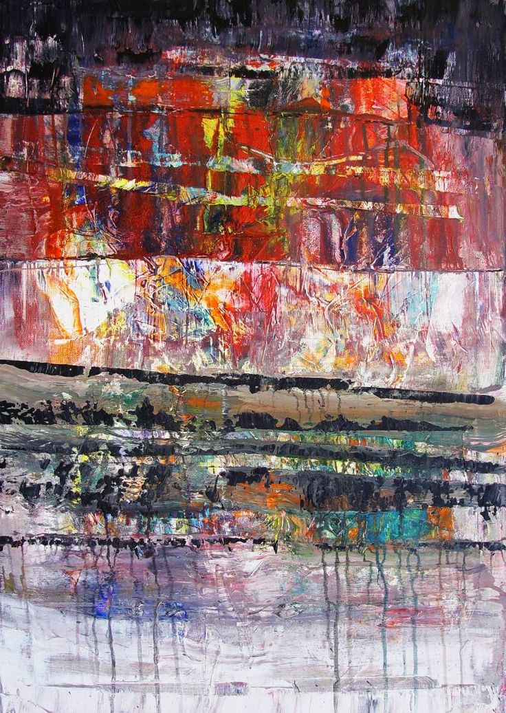 Composition BB108, a Acrylic on Canvas by Radek Smach from Czech Republic. It portrays: Abstract, relevant to: positive, red, black, texture, white, emotion, expressionism, abstract, layered Original abstract painting on canvas.  Ready to hang.  No framing required (it can be framed).