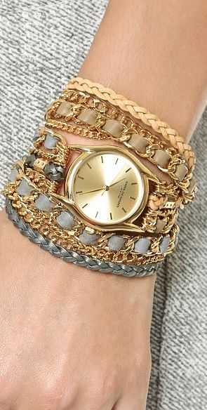 woven chain wrap watch http://rstyle.me/n/niguipdpe