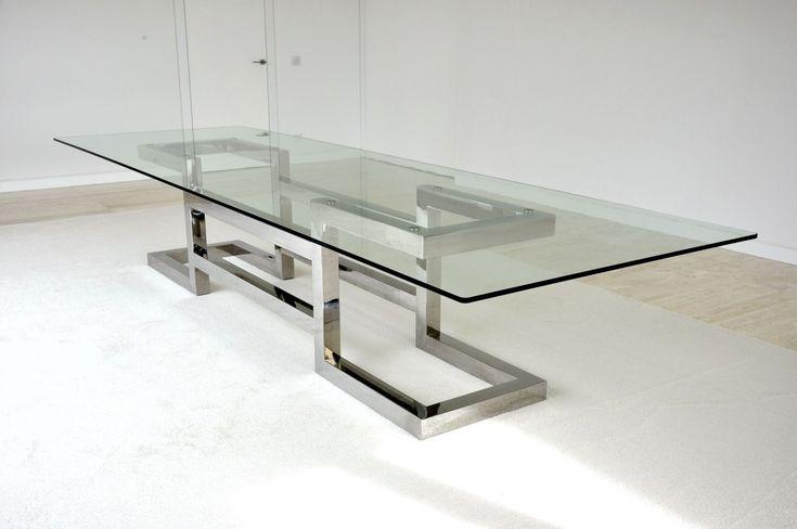 Mesa de reuniones / moderna / de cristal / de hierro LISA : CONFERENCE GONZALO DE SALAS