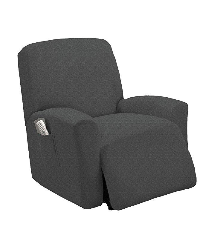 Marcielo One Piece Stretch Recliner Slipcover Stretch Fit Furniture Chair Recliner Lazy Boy Cover Slipcover 1 Piece Couch Cove Recliner Slipcover Recliner Cover