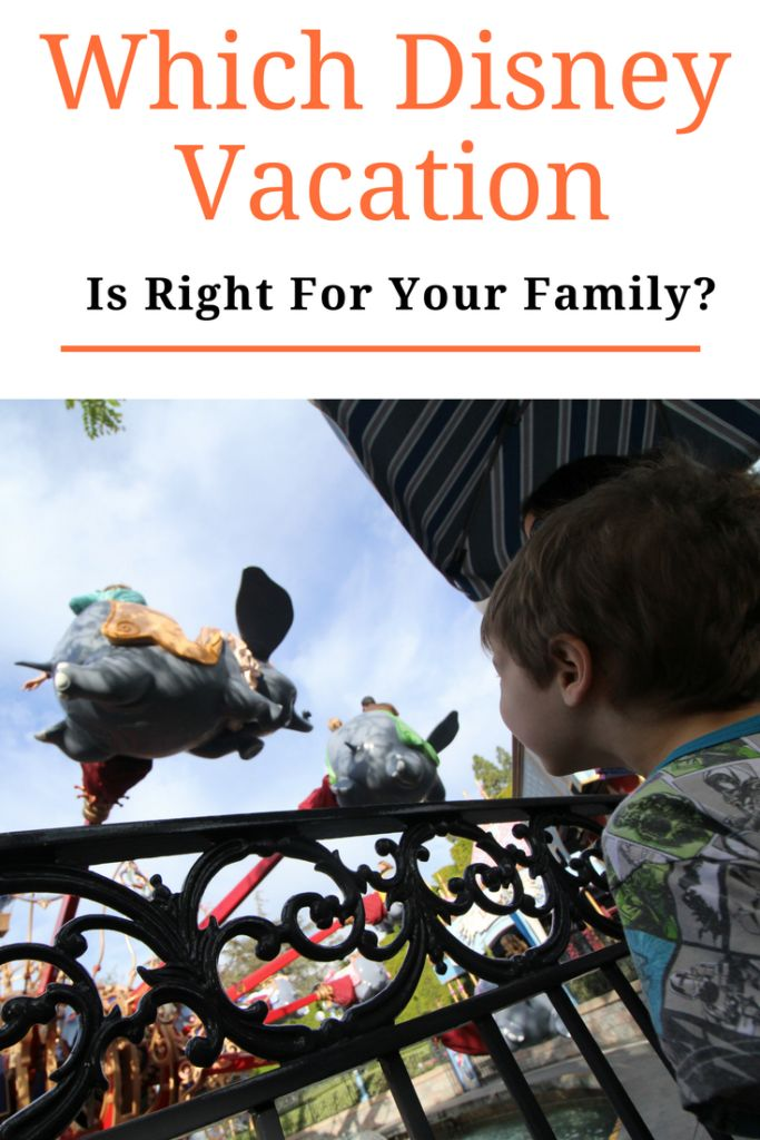 Which Disney Vacation is Right for Your Family?    #Disney #FamilyTravel #DisneyTips
