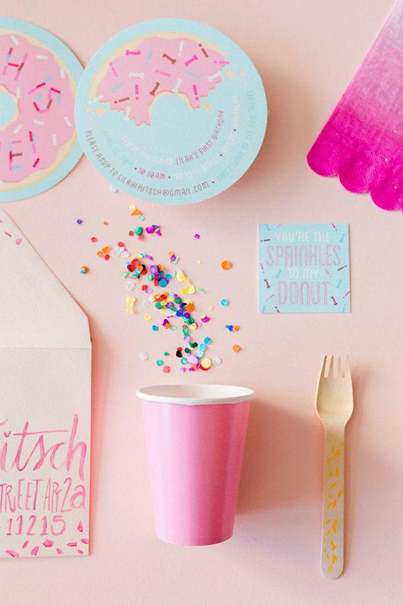 Donut Party First Birthday | Photos by Nicki Sebastian | 100 Layer Cakelet #donuts #donutparty #donutbirthday #hbd #birthdayparty