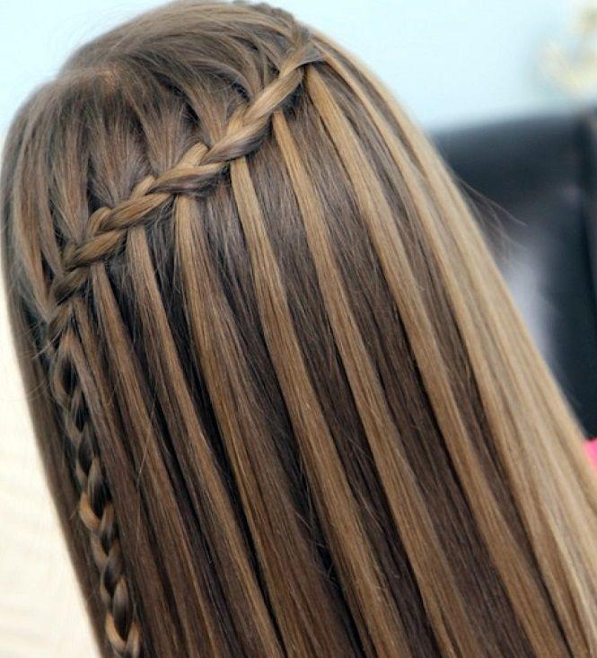 Resultado de imagem para trança cascata com cabelão solto e ondulado