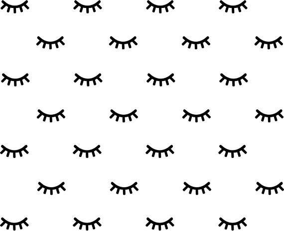 Eyes Wall Decal Sleepy Eyes Sticker Eyes Sticker Closed
