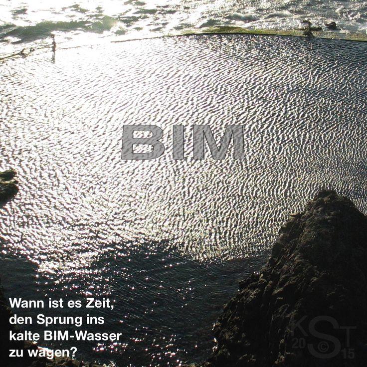 BIM erfordert eine Umstellung der Arbeitsweise, die geplant sein will. Um den Anschluss nicht zu verlieren, muss man aber irgendwann den Sprung ins kalte BIM-Wasser wagen. Wann ist es dafür Zeit? In meinem Blog-Eintrag dazu (s. auch http://www.bimundumbimherum.wordpress.com) kann man mehr darüber herausfinden.