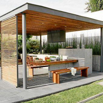Love this - bbq + dining tbl backyard