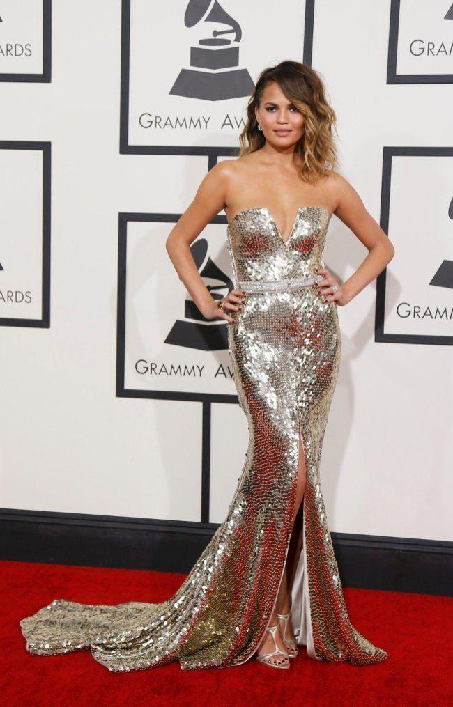 chrissy teigen jonna johnson 2014 GRAMMY Awards Red Carpet Style