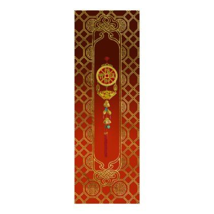 Chinese Good Luck Symbol Tasssel - Feng shui Poster - good gifts special unique customize style
