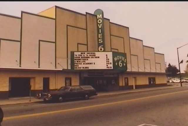 the boulevard theater. the last image of this updated frontage.  Note, compared to the original theater, the markee and verticle movie 6 replaced the retro sign.  Cost a forturne for a date at the movies.  popcorn, drinks, candy all inflated prices.