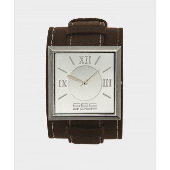 Reloj Plateado Brazalete de Cuero de color Marrón 666 Barcelona Colección Classic http://www.tutunca.es/reloj-plateado-brazalete-cuero-marron-666-barcelona-classic
