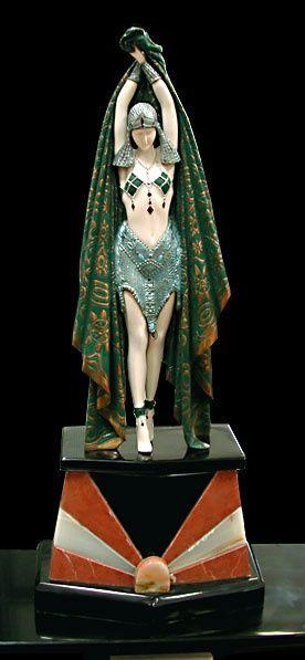 """Art Deco Sculpture """"Antina"""" By Demetre Chiparus"""