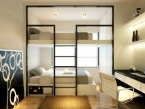 Contemporary #HDB #Living #Room #Dining Area #Kitchen Master #Bedroom Study