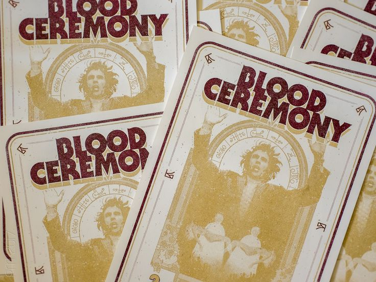 Blood Ceremony, 2017, Riso, Print, Druck, Poster, Logo, artwork, design, grafik | Peter Möller