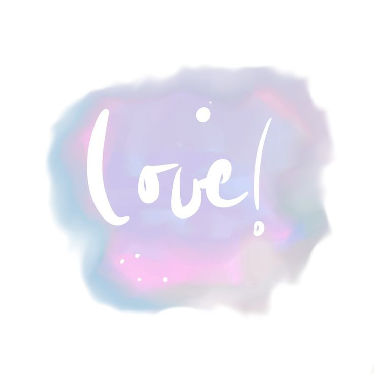 love watercolor hand lettering illustration