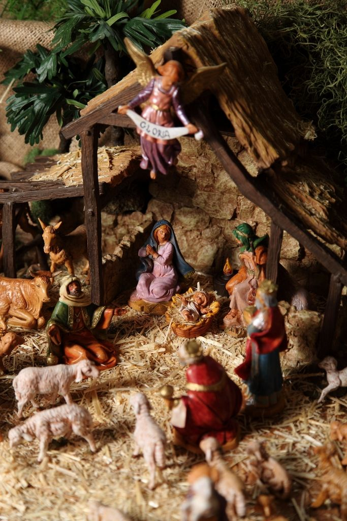 Fontanini Nativity Display at St. Ann Catholic Church 2014-2015