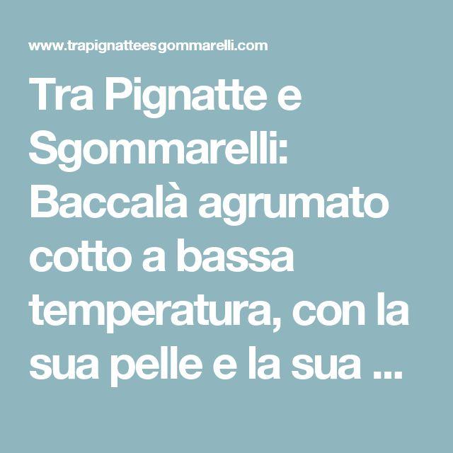 Tra Pignatte e Sgommarelli: Baccalà agrumato cotto a bassa temperatura, con la sua pelle e la sua maionese, cicoria liquida alla colatura di alici e mandorle tostate al sale marino