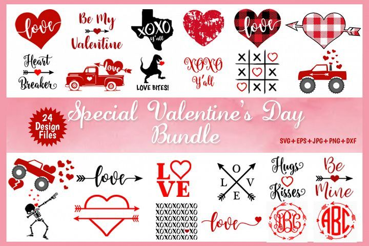 Jpeg files 300 dpi Clip Art High Res Cut Ready for Cricut EPS Valentine/'s Day Hand Drawn Heart Love SVG Text Vector Illustration With PNG