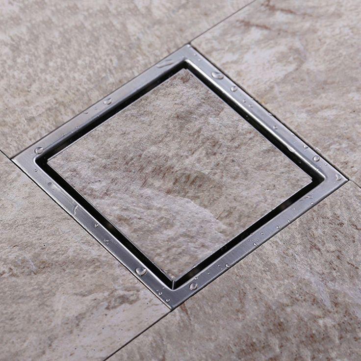 Barato De de piso retangular de grades banheiro chuveiro drenagem, 304 aço inoxidável Anti odor ralo invisível, Compro Qualidade Ralos diretamente de fornecedores da China: Tamanho: 150 mm x 150 mm Material