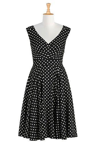 #Count the dots print dress, #Dots, #eShakti, #Printed dresses, $59.95Dots Dresses, Polka Dots, Prints Dresses, Fashion Dresses, Dresses Eshakti, Black And White, Size 0 26W, Dots Prints, Shops Women