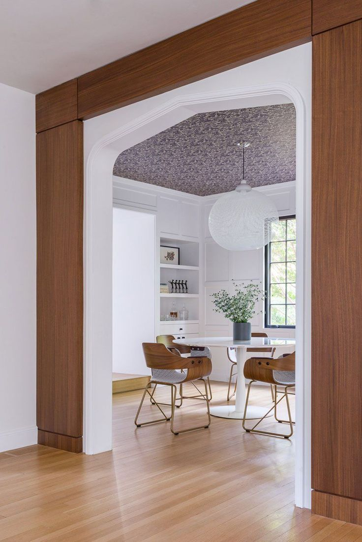 KR H Made The Dining Room Entry As Well Paneling And Cabinetry Architecture Design By Hacin Associates Photography Michael Stavaridis