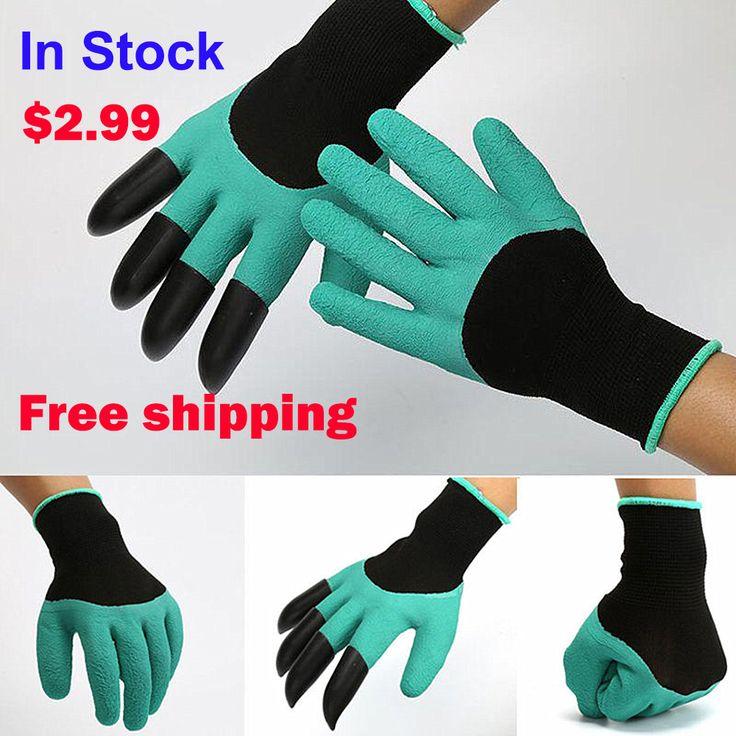Tuin Genie Handschoenen met Vingertoppen Uniex Klauwen Quick Gemakkelijk te graven en Plant Veilig voor Rose Snoeien Handschoenen Wanten Graven handschoenen