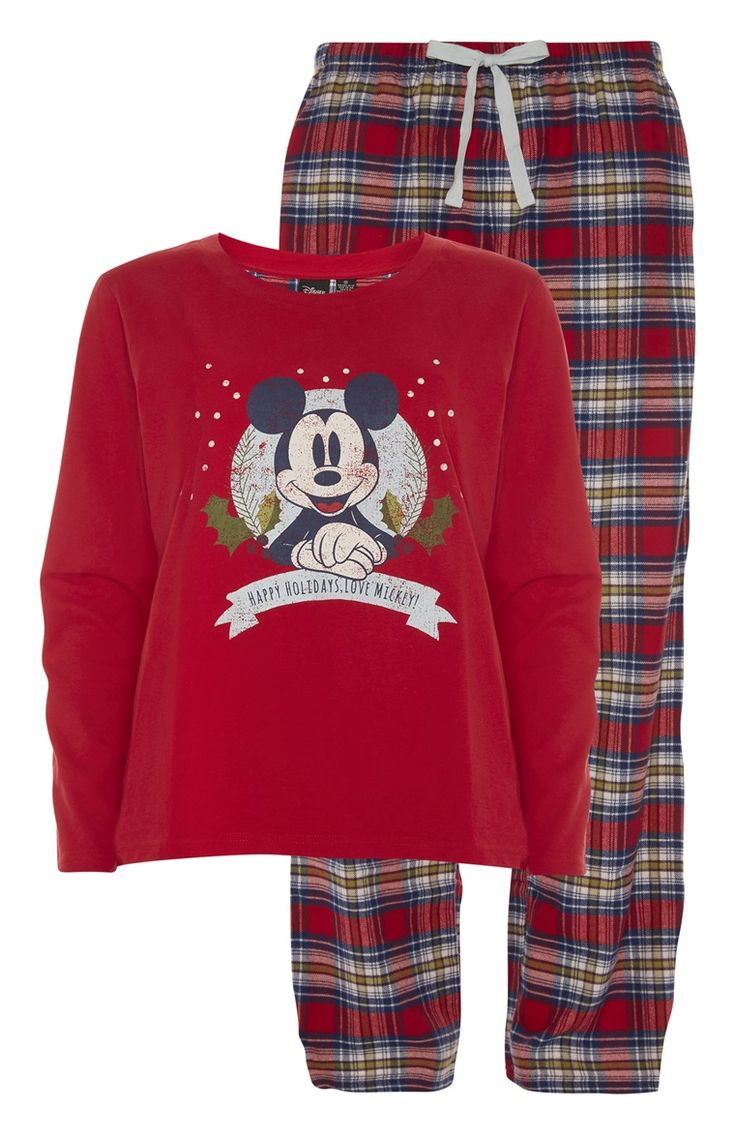 You can never go wrong with Mickey Mouse Christmas PJs