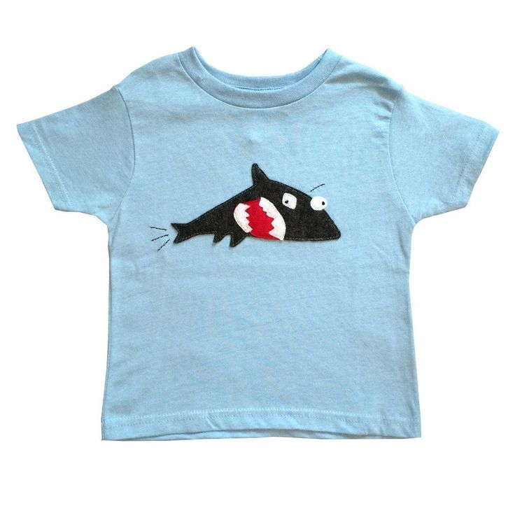 "Handmade Limited Edition ""Shark & Fish"" Tee"