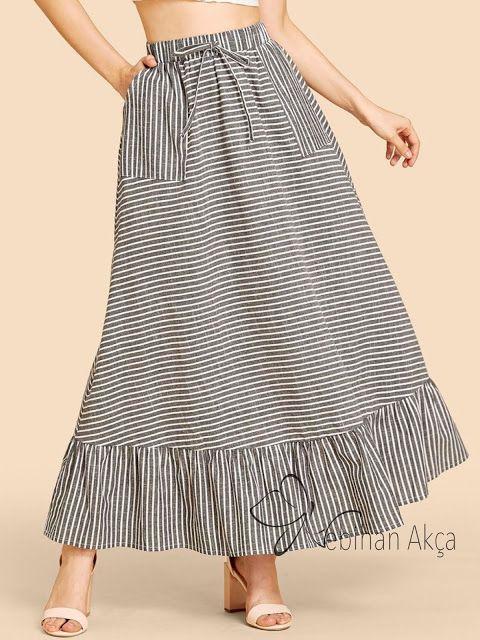 gestreifte röcke, gestreifte röcke, modische röcke, burdastyle röcke   – Dikiş, Moda, Tasarım