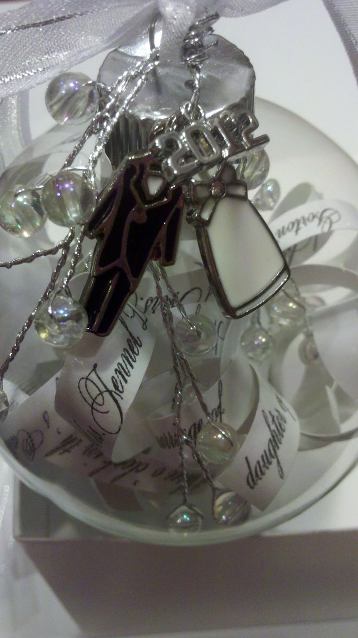 full of great ideas glass wedding invitation christmas ornament
