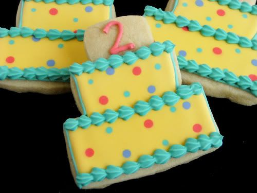 Second Birthday Cake Cookies. I know what I'm trying for Molly's Birthday this year!
