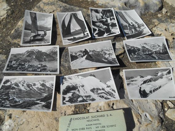 10 unused black and white bromide #photos of Switzerland - Vintage 1939 Photos…