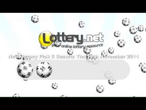 New Jersey Pick 6 Lottery Results - http://LIFEWAYSVILLAGE.COM/lottery-lotto/new-jersey-pick-6-lottery-results/