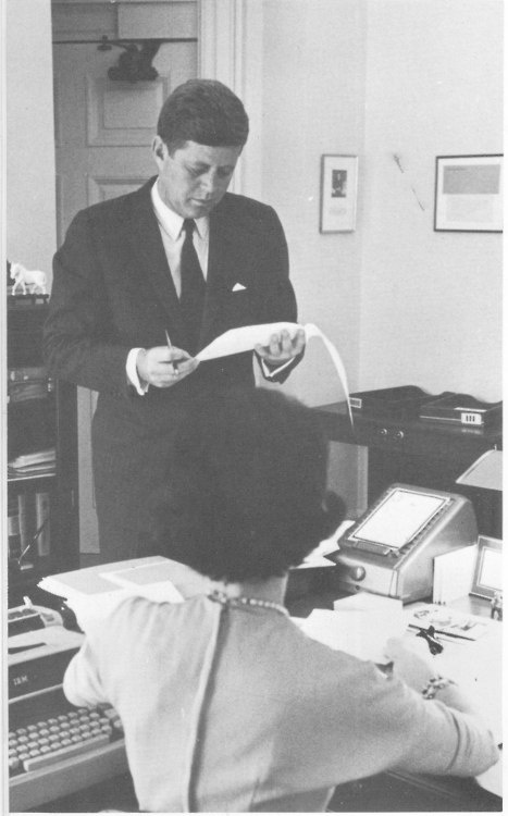 The President reviews more paperwork