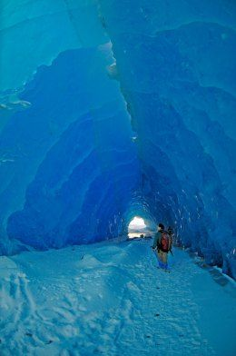 Mendenhall Ice Caves under and Alaskan glacier