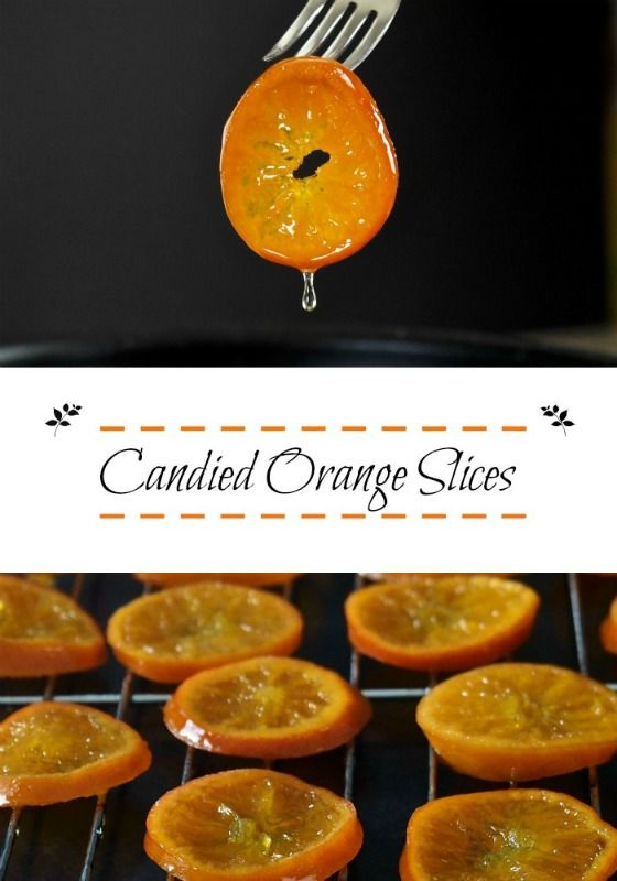 Candied Orange Slices add that special somethin' somethin' to almost any dessert. ...an edible garnish with a sweet citrus bite. Chewy, fresh and gorgeous.
