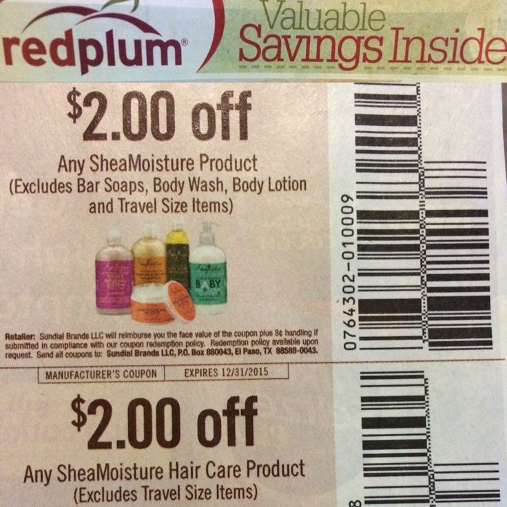 COUPON! SHEA MOISTURE! SALE! In the Red Plum Valuable Savings section of the newspaper, there are THREE coupons for Shea Moisture products! FYI