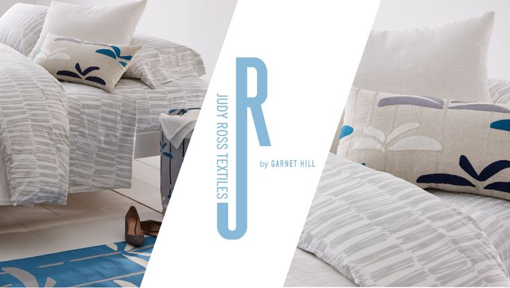 Judy Ross Textiles by Garnet hill.  Check out our gorgeous Brushstrokes bedding in silver at http://www.garnethill.com/rugs-home-decor/judy-ross-textiles/