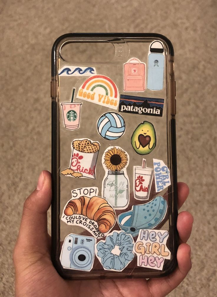 Made stickers & put them on my case – iPhone case