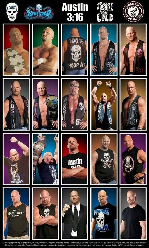 Evolution of Stone Cold Steve Austin